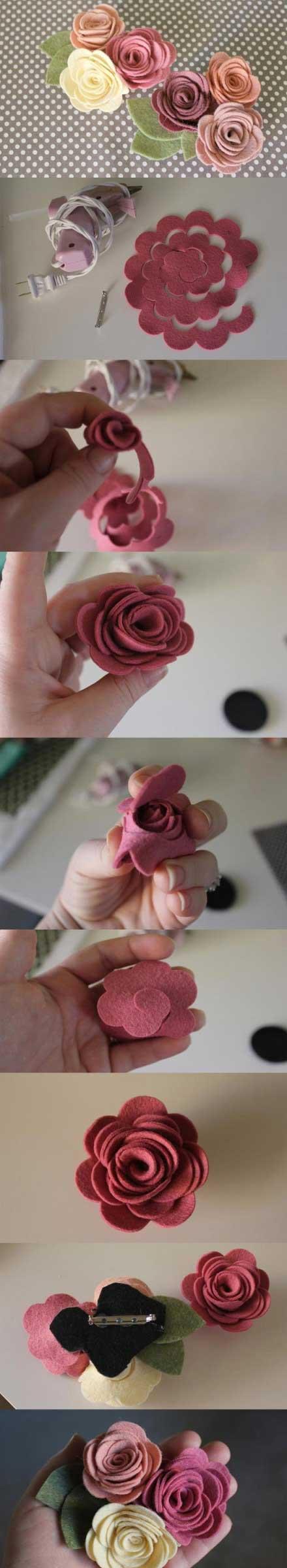 教你怎么用布制作出漂亮的玫瑰花