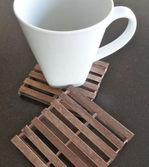 雪糕棍制作个性茶杯垫