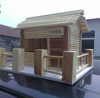 一次性筷子制作精美小木屋的DIY小创意