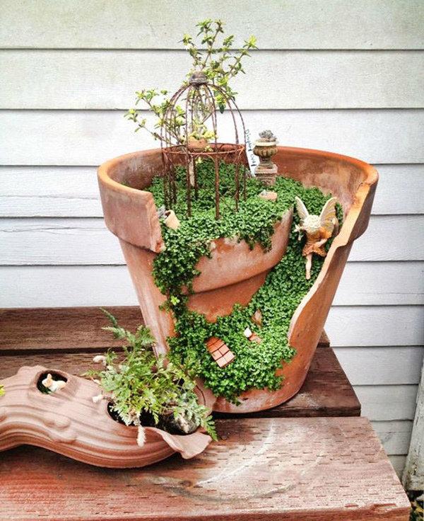园艺新趋势,破花盆也有春天