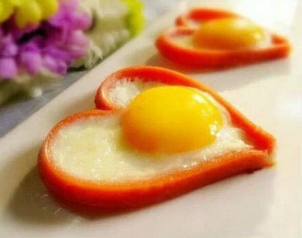 爱心火腿肠煎蛋