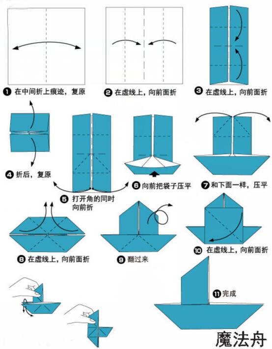 怎么叠纸船