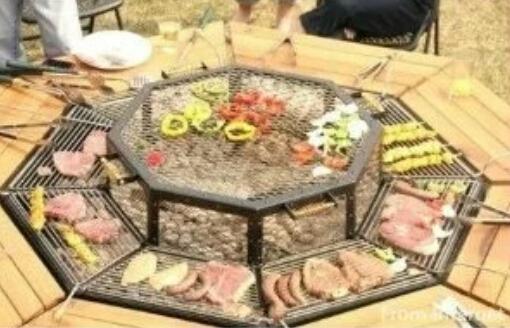 自制庭院烧烤桌