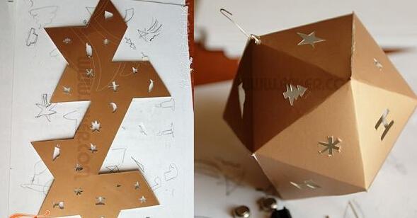 环保纸皮灯笼挂饰