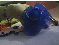 丝网花蓝色妖姬做法