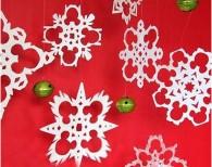 浪漫雪花剪纸点缀美丽的冬季
