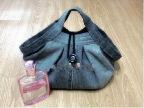 不穿的旧牛仔裤如何改造漂亮的包包