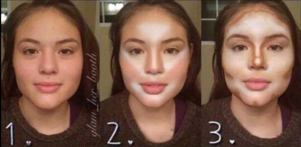 如何运用粉底将大脸变小脸