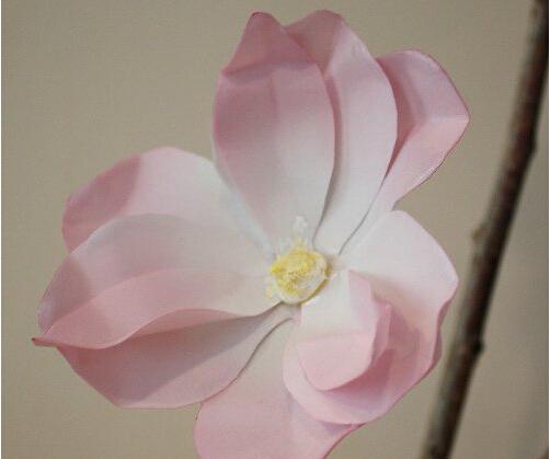卡纸手工制作唯美木兰花的方法图解