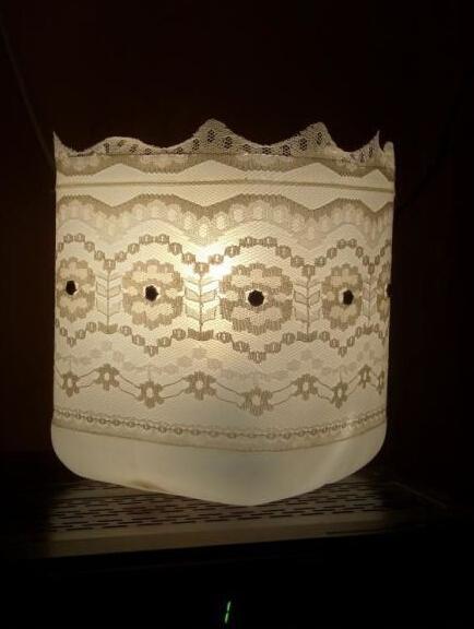 矿泉水瓶做精美台灯