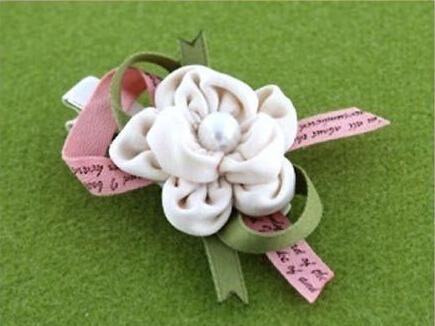 玫瑰发夹手工制作