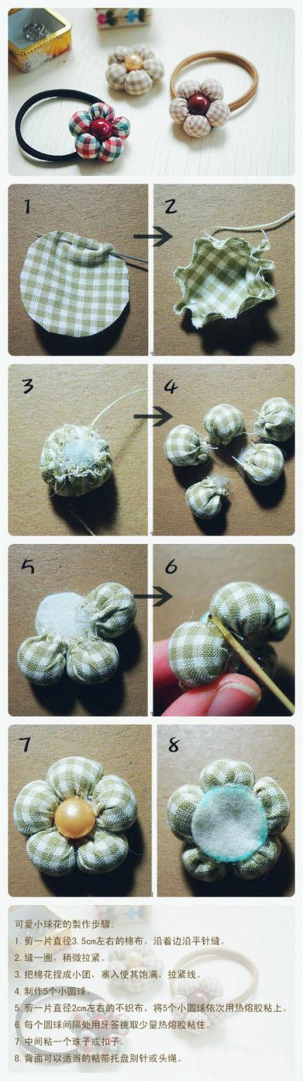 可爱头花的手工DIY做法