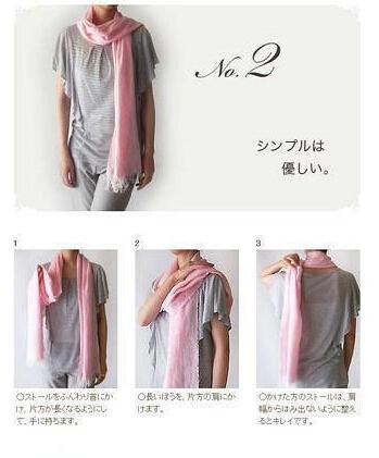 最全丝巾围巾围法