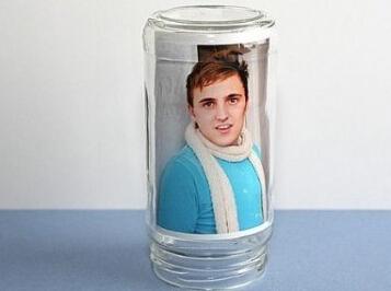 玻璃瓶存放照片