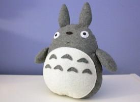 手工毛毡布制作超仿真的毛绒龙猫玩具