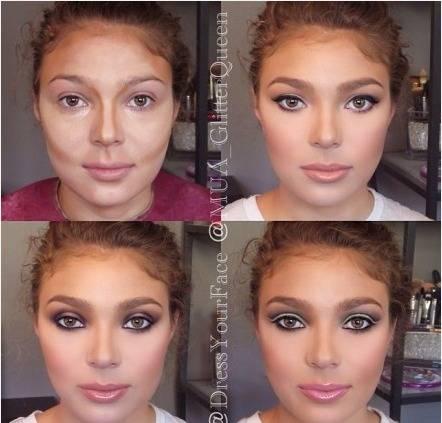 如何利用粉底高光化妆