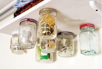 玻璃瓶做创意倒挂储物瓶