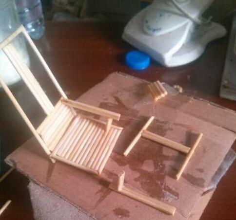 牙签DIY摇椅教程