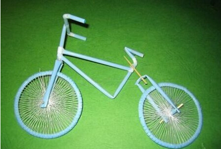 DIY吸管自行车