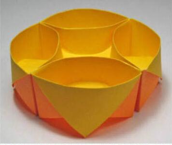diy手工折纸花型首饰盒教程