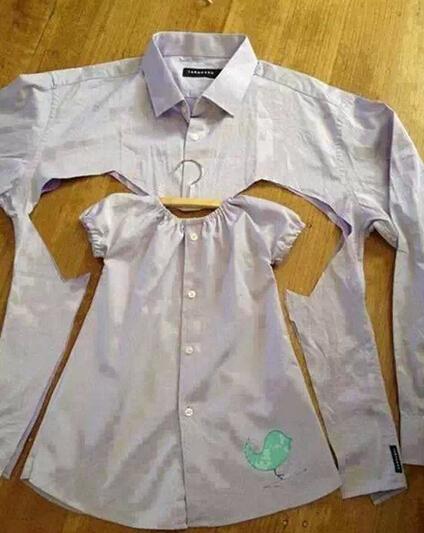 爸爸的衬衣之——贴心小棉袄篇