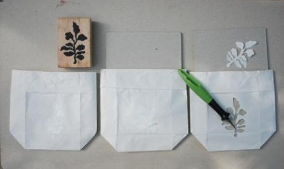 一次性纸袋DIY浪漫小夜灯
