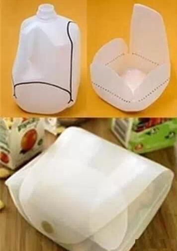 废物利用大号农夫山泉塑料瓶制作储物包包