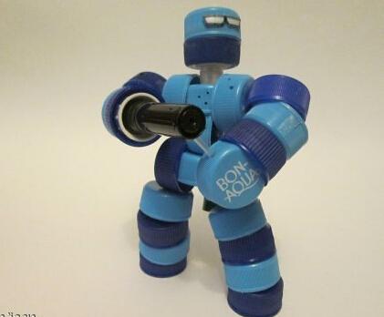 废物利用之塑料瓶盖制作机甲战士玩具!