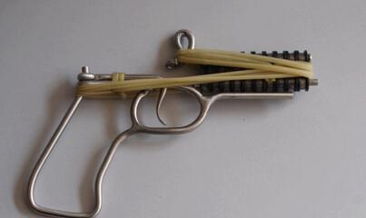 小时候的回忆链条火柴玩具枪制作教程