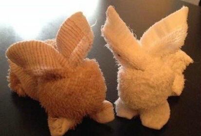 毛巾折小兔子