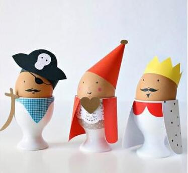 鸡蛋壳创意手工玩偶