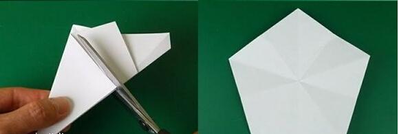 立体五角星的折法