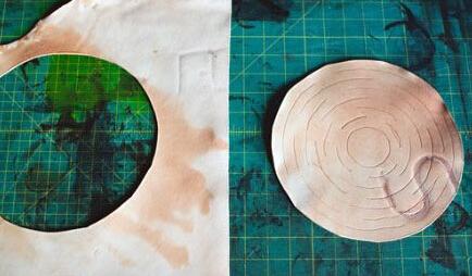 皮革制作花盆架