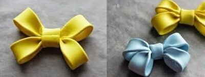 轻粘土做蝴蝶结饰品
