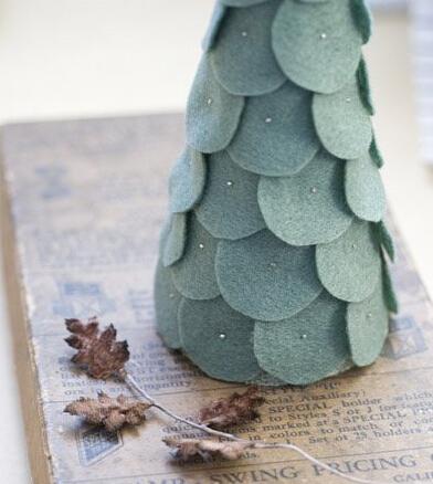 布艺圣诞树的手工做法
