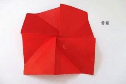 玫瑰花手工折纸