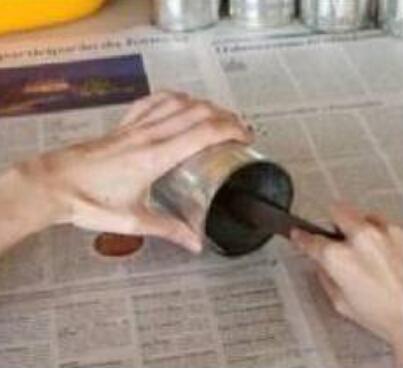 废旧铁桶铁罐、奶粉罐废物利用——制作完美收纳