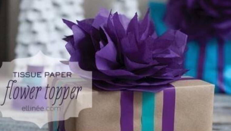 包装上惊艳的折纸花