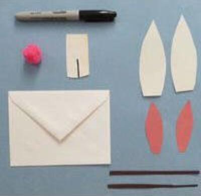 超可爱小兔子信封DIY,写一封萌萌的信吧