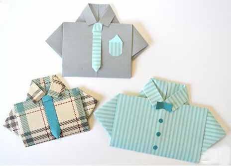折纸衬衣 贺卡制作