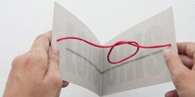 创意又有趣的婚礼请柬红绳结设计