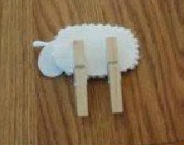 棉棒制作小羊肖恩