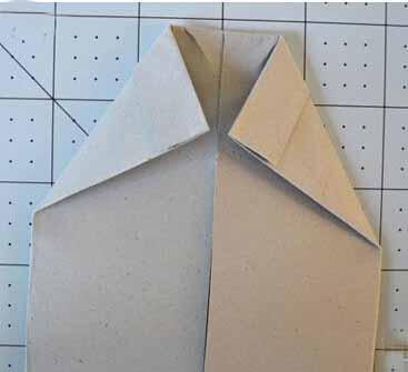 衬衣折纸制作