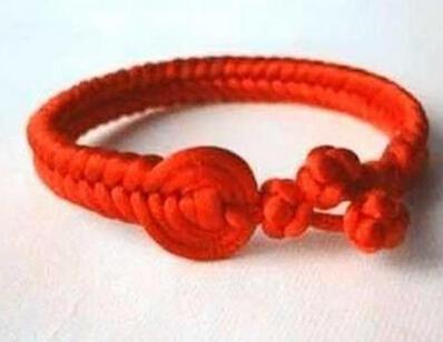 复古中国结红手绳编法