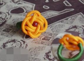 戒指花的编法