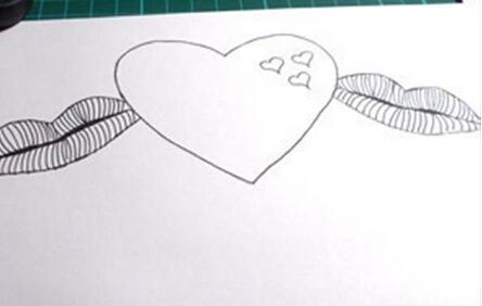 爱心贺卡折纸