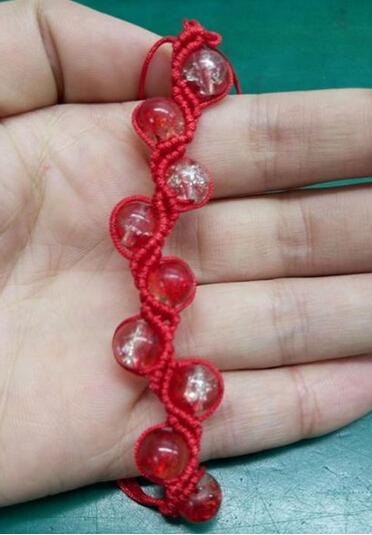 花样红绳手链编法