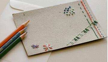 个性创意刺绣贺卡
