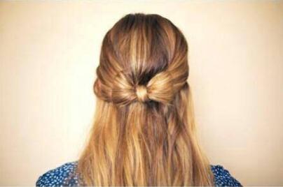 头发如何绑出蝴蝶结