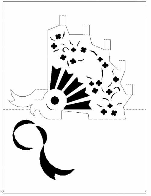 立体镂空贺卡雕刻过程